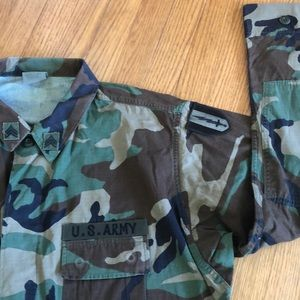 Men's Army camo field jacket